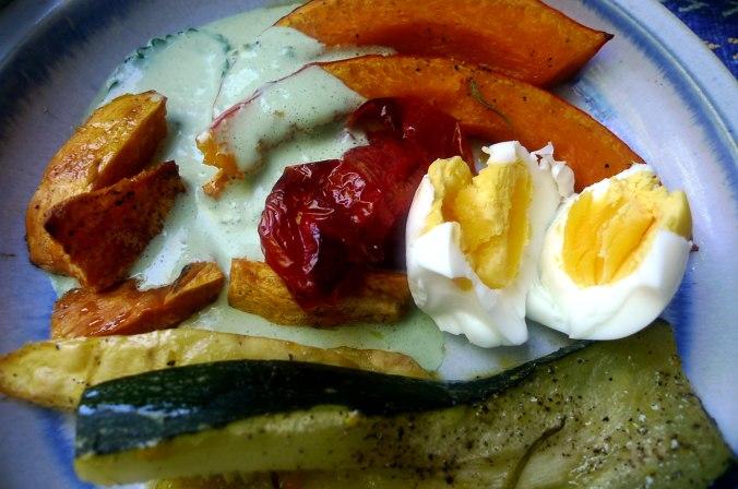 Ofengemüse,Basilikum Dip,vegetarisch (9)