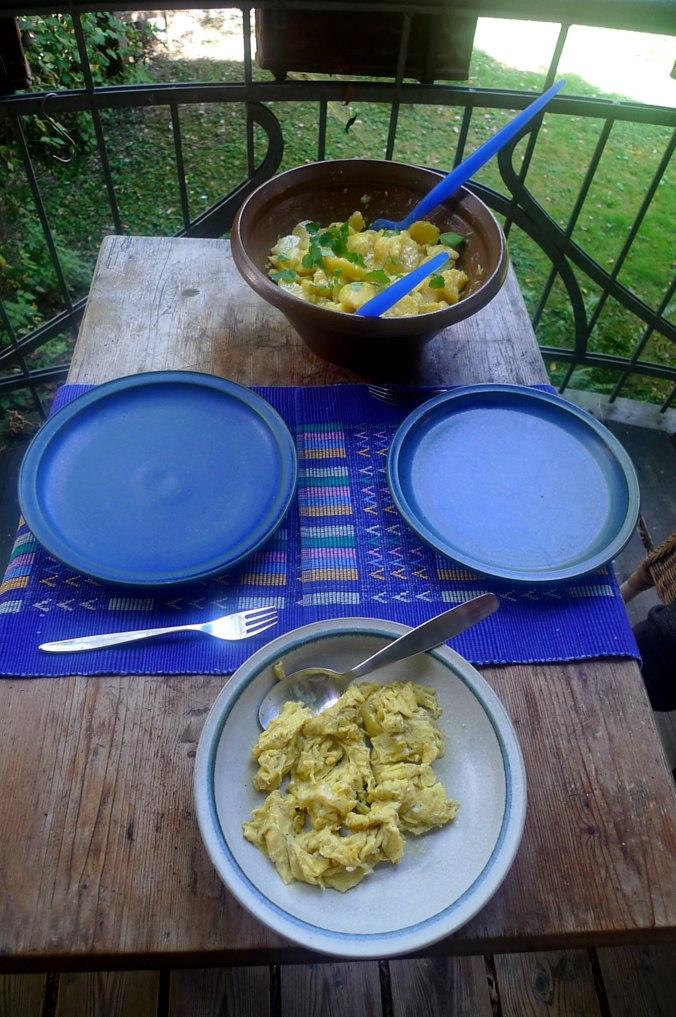 Schwäbischer Kartoffelsalat,Rührei (2)