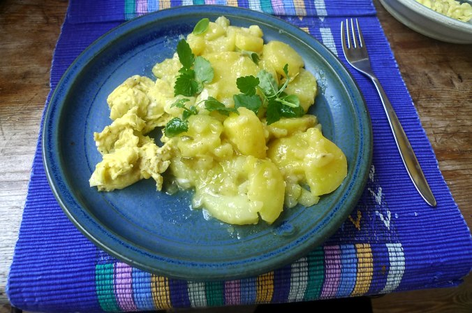 Schwäbischer Kartoffelsalat,Rührei (3).JPG