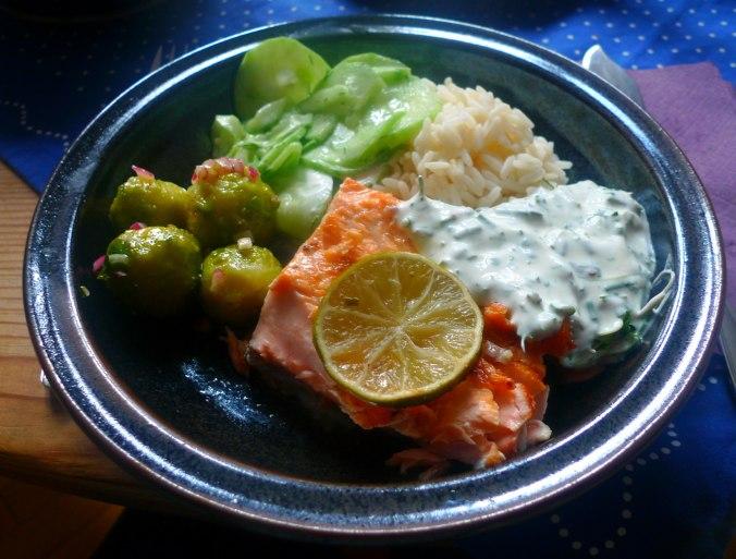 lachsreisrosenkohlsalatgurkensalat-1
