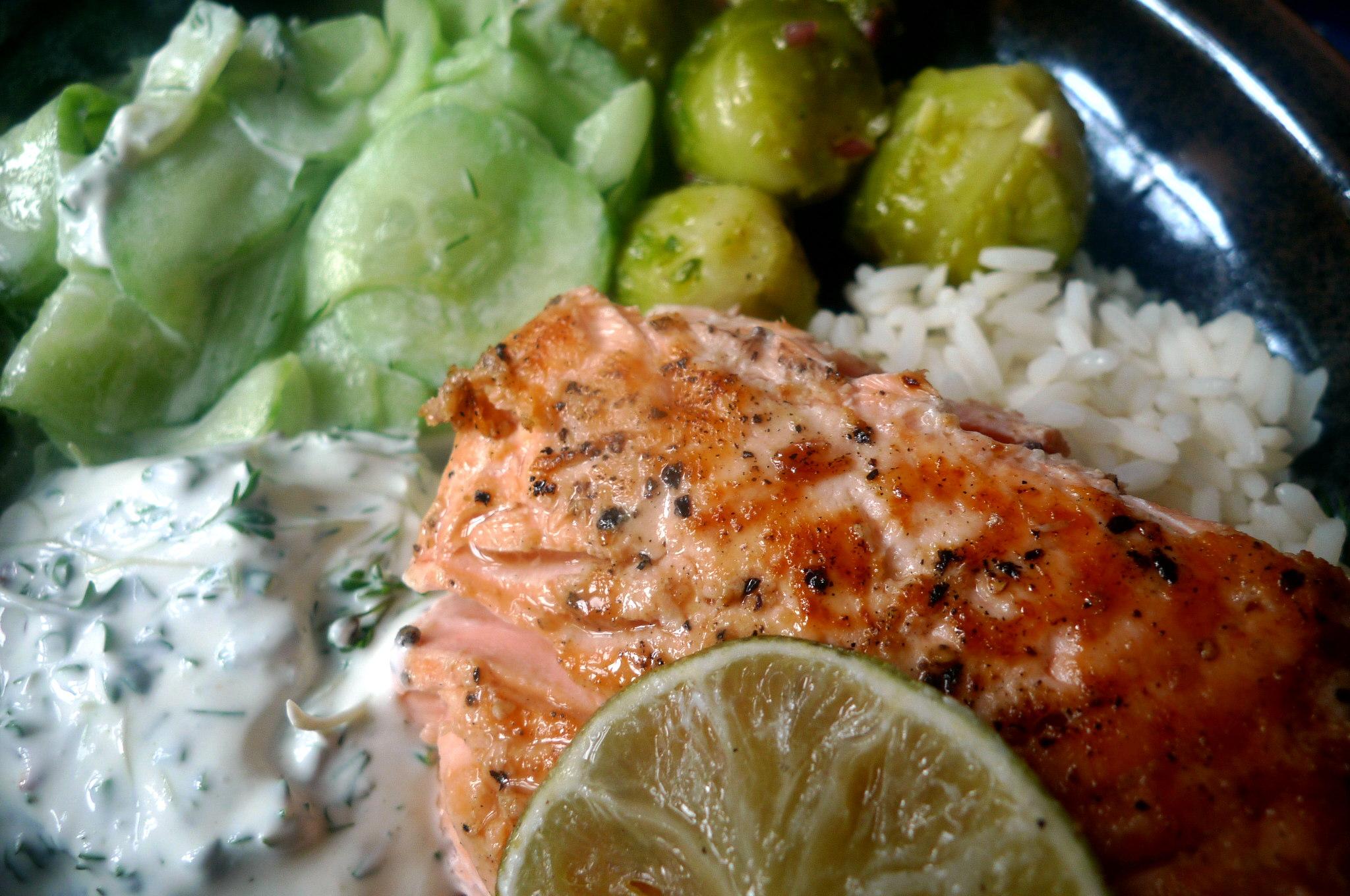 lachsreisrosenkohlsalatgurkensalat-14