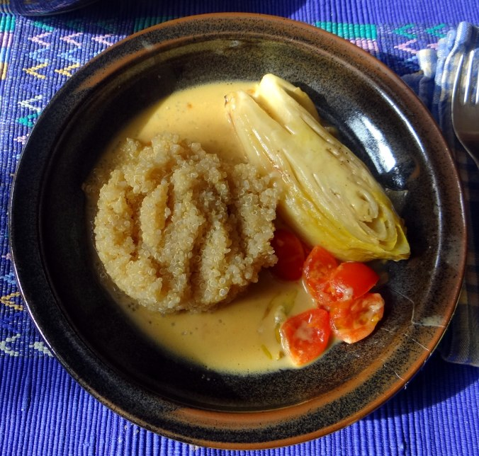 Gedämpfter Chicoree,Quinoa (1)