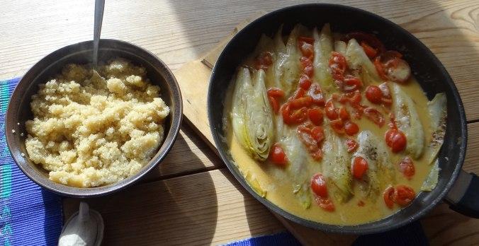 Gedämpfter Chicoree,Quinoa (15)
