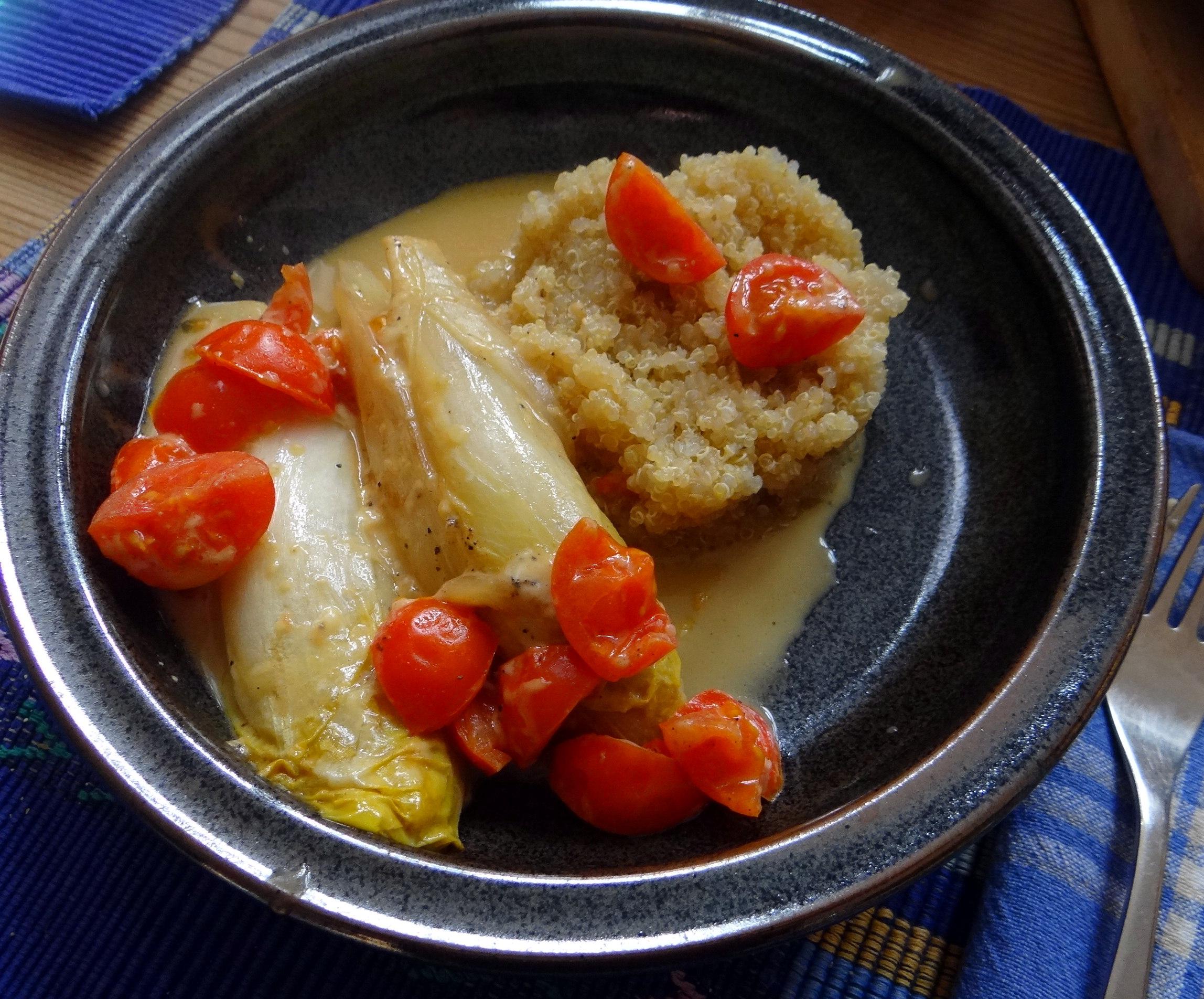 Gedämpfter Chicoree,Quinoa (17)