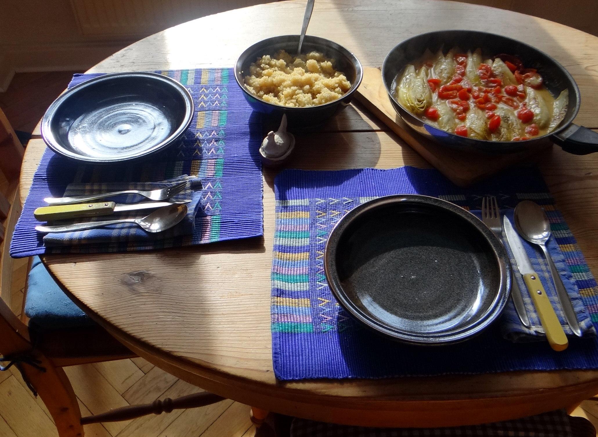Gedämpfter Chicoree,Quinoa (2)