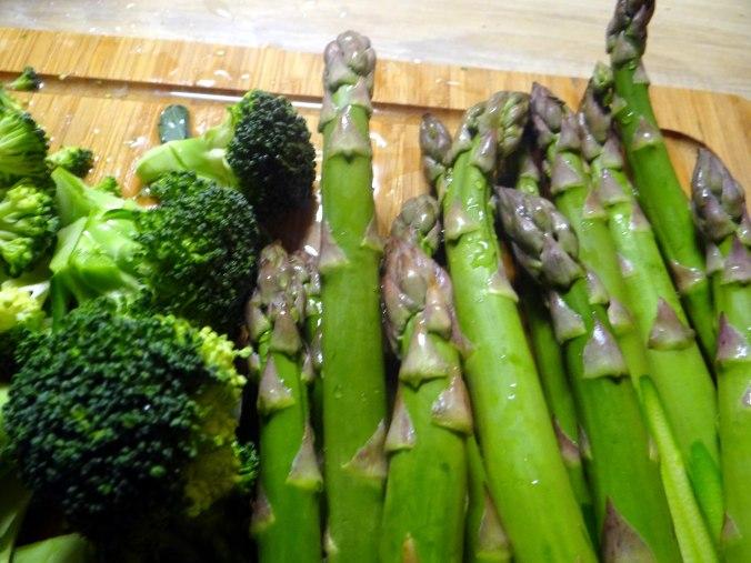 Grünes Gemüse mit Nudeln (4)