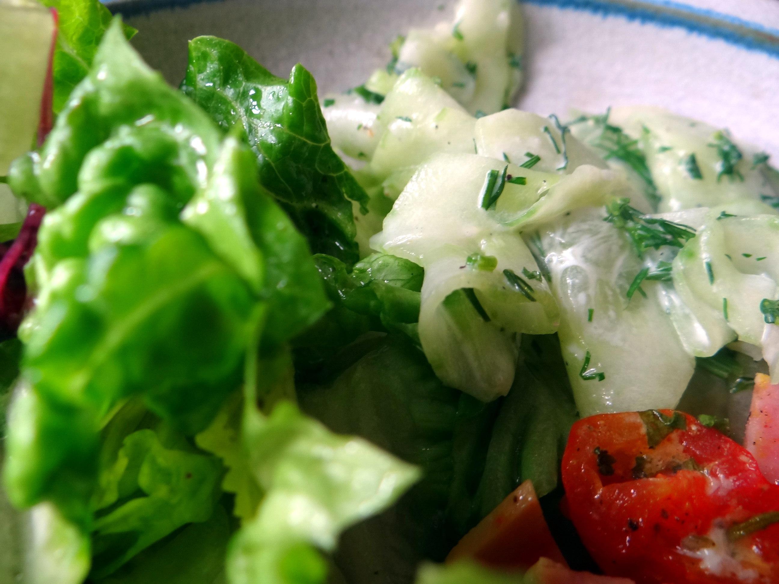 Resteessen,Gurkensalat,Romasalat (12)