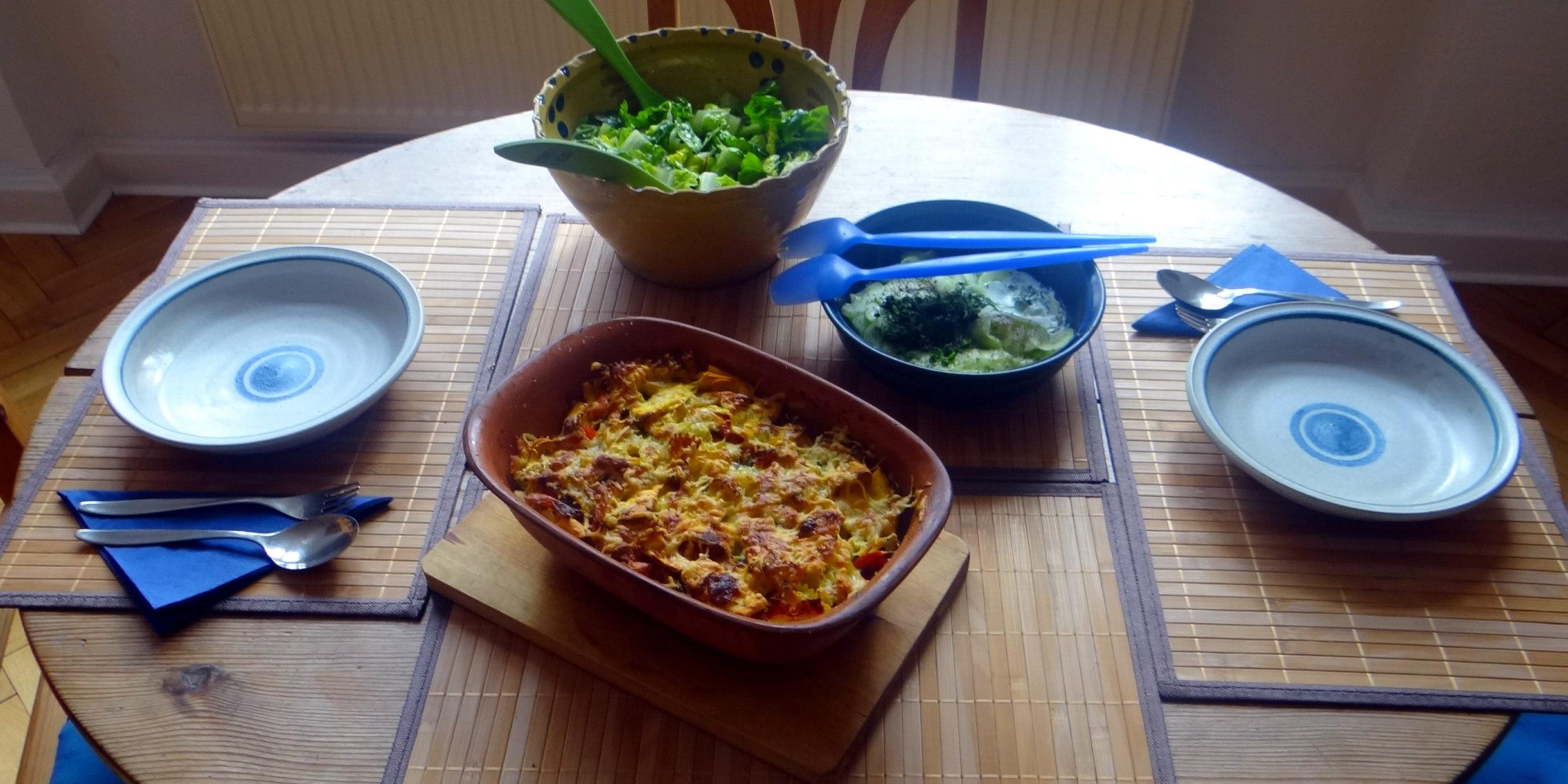 Resteessen,Gurkensalat,Romasalat (3)