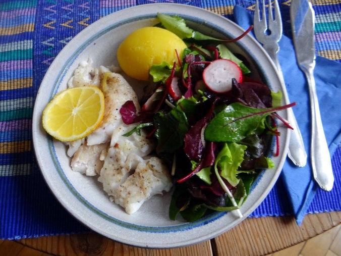 Rotbarsch,Pflücksalat,Pellkartoffeln (1)