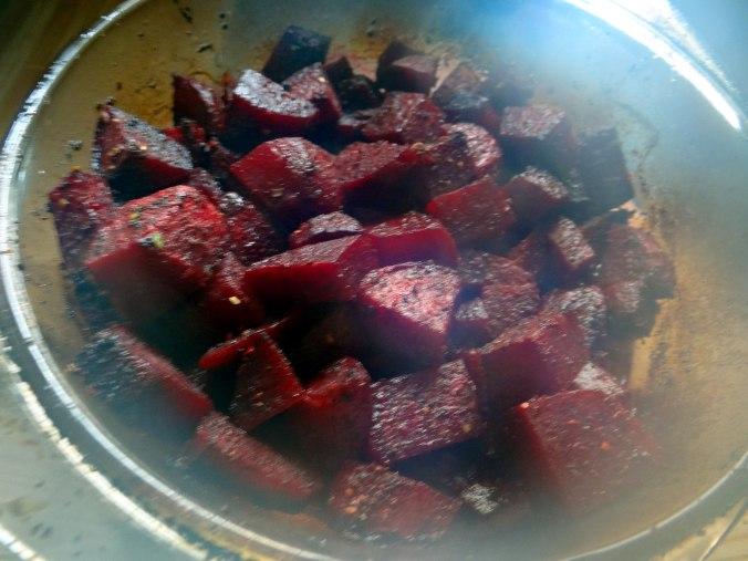Rote Beete Gemüse,Ofenkartoffel,Fenchelsalat, (2)