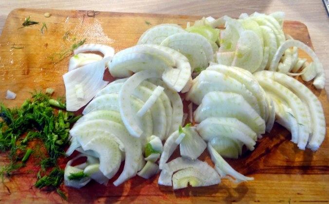 Rote Beete Gemüse,Ofenkartoffel,Fenchelsalat, (3)
