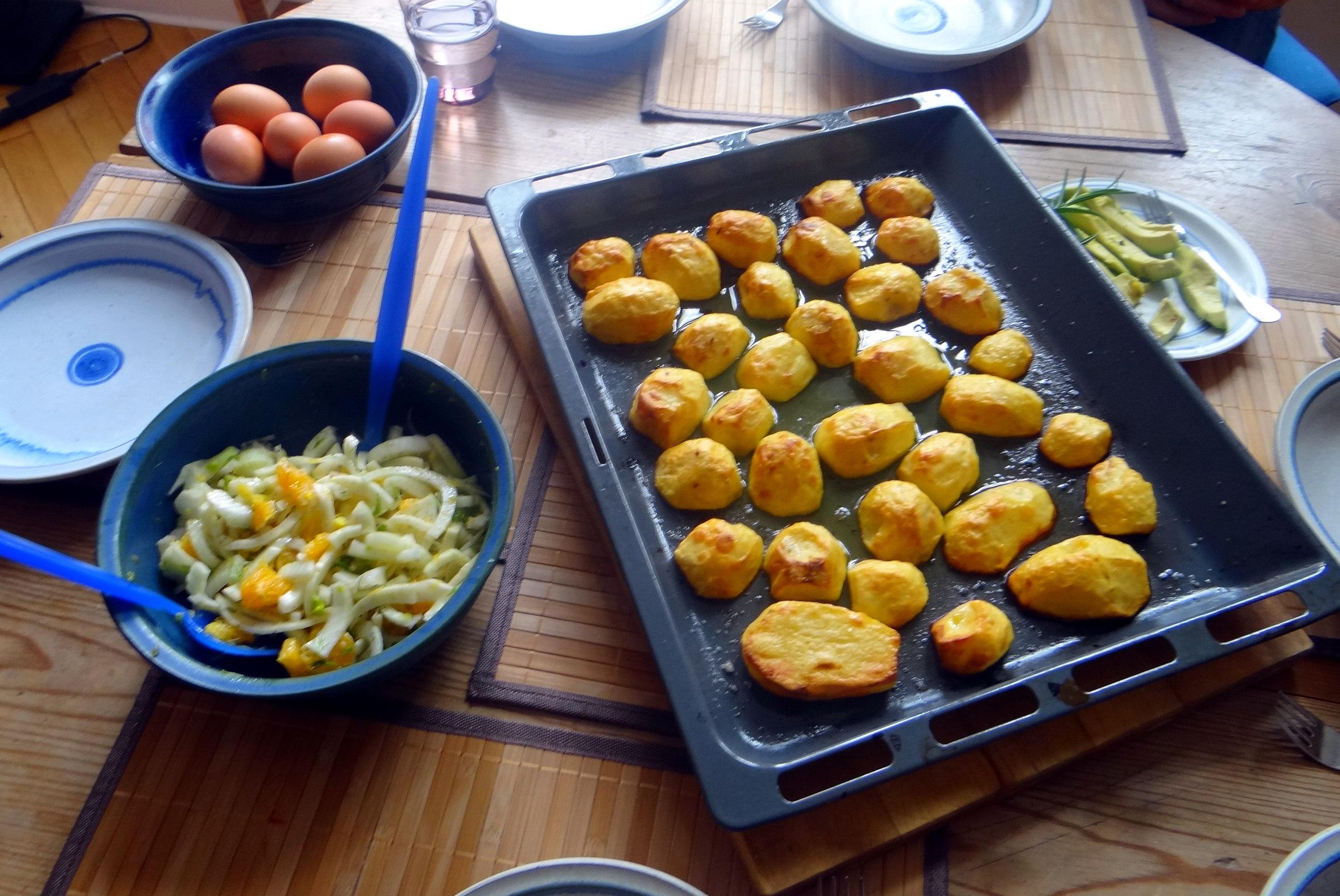 Rote Beete Gemüse,Ofenkartoffel,Fenchelsalat, (8)