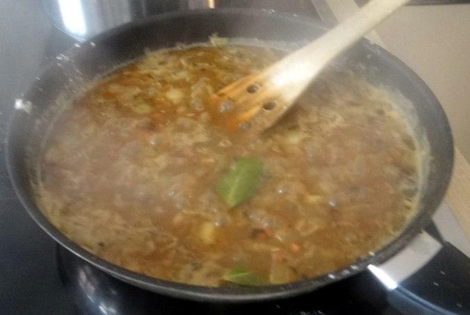 Zwiebelsoße,Klöße,Chicoreesalat (10)