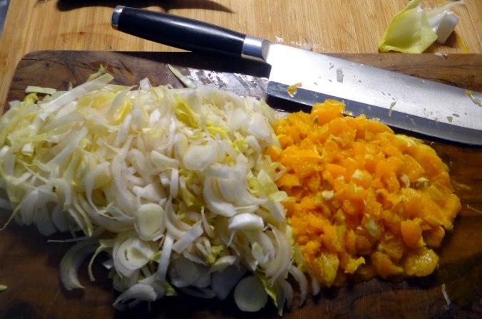 Zwiebelsoße,Klöße,Chicoreesalat (11)