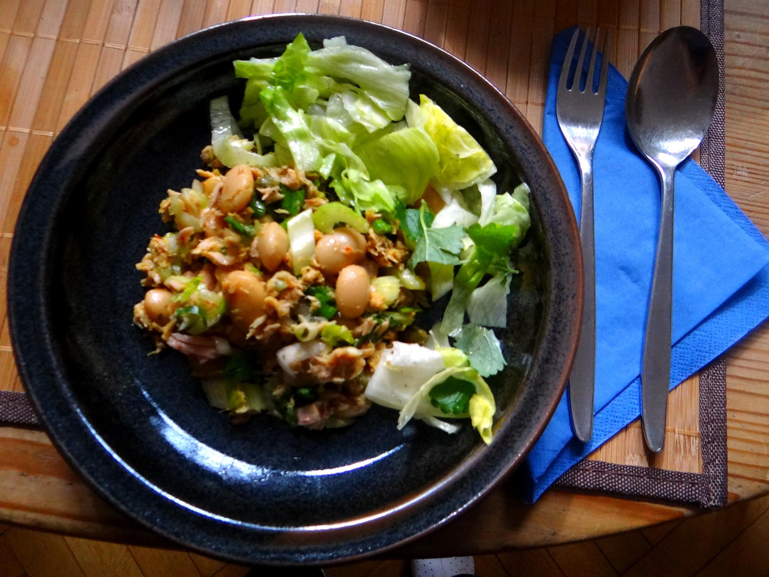 Bohnen,Thunfisch,Sellerie Salat (1)