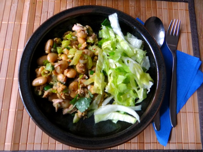 Bohnen,Thunfisch,Sellerie Salat (14)