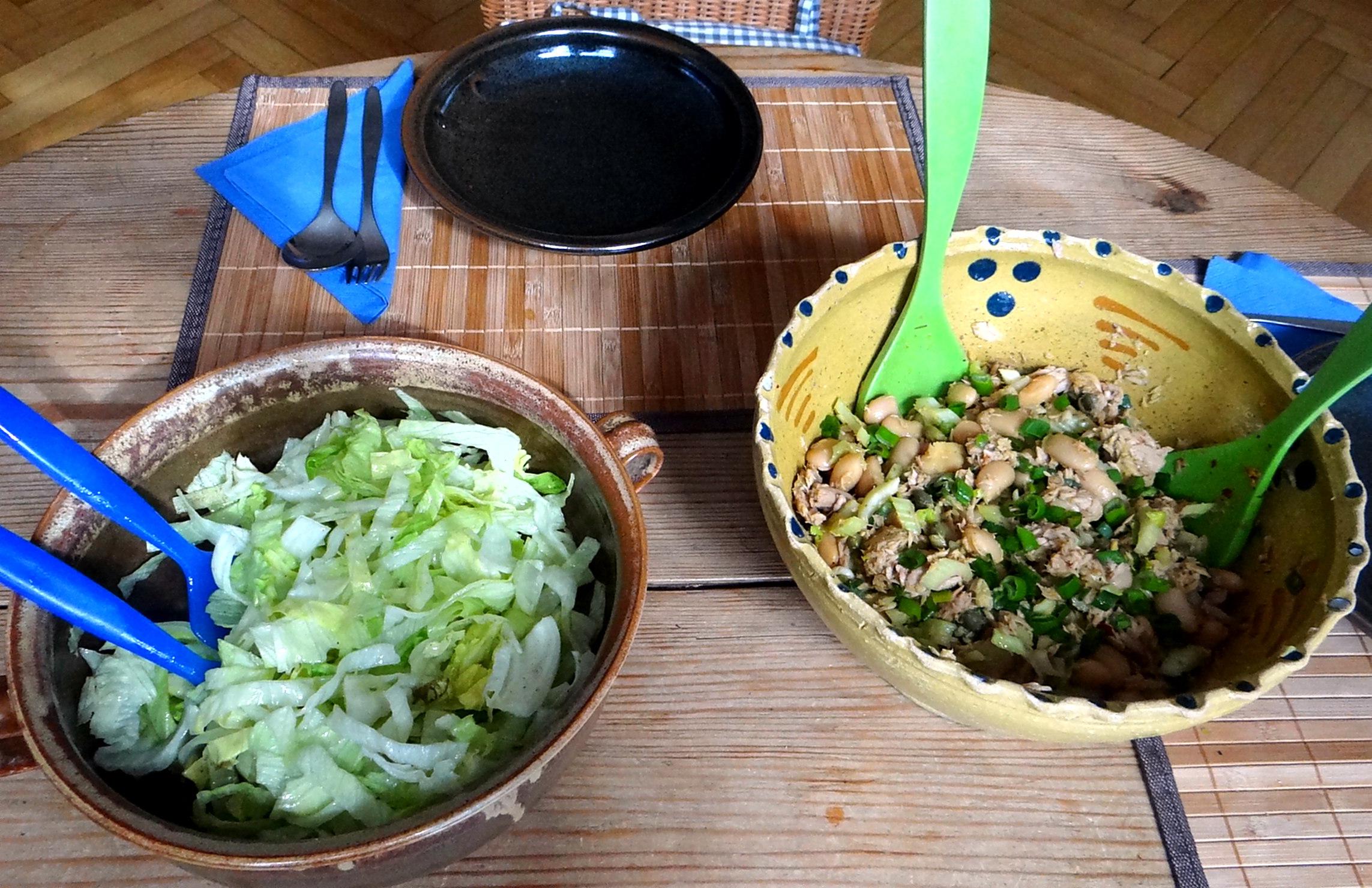 Bohnen,Thunfisch,Sellerie Salat (2)
