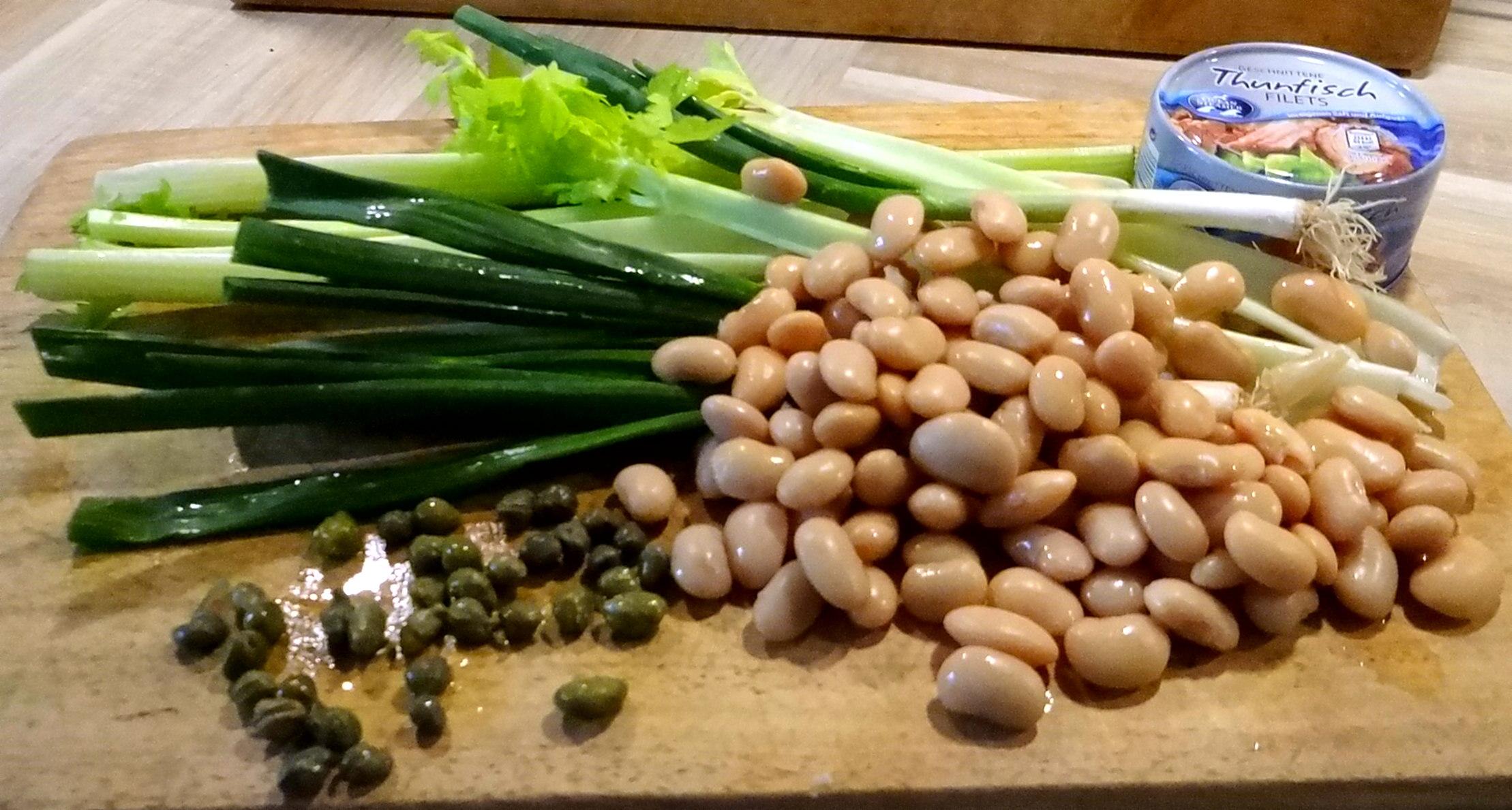 Bohnen,Thunfisch,Sellerie Salat (5)
