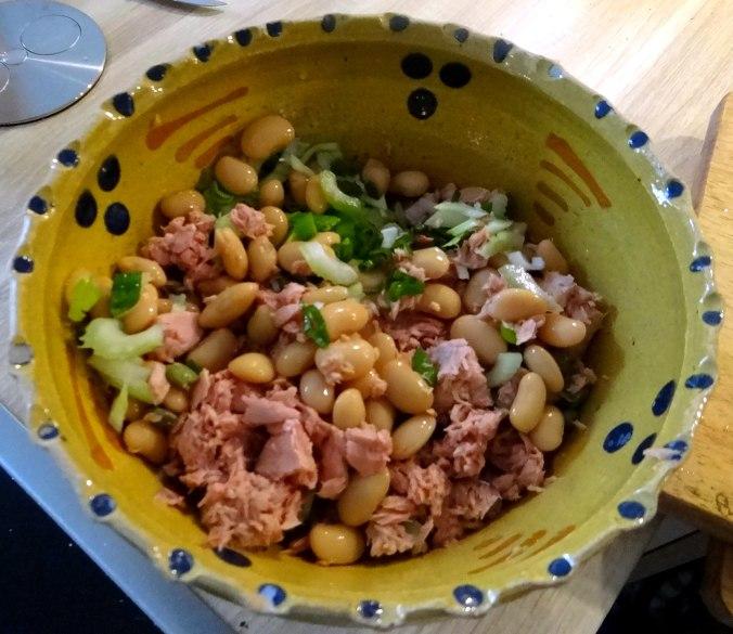 Bohnen,Thunfisch,Sellerie Salat (8)