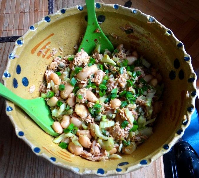 Bohnen,Thunfisch,Sellerie Salat (9)