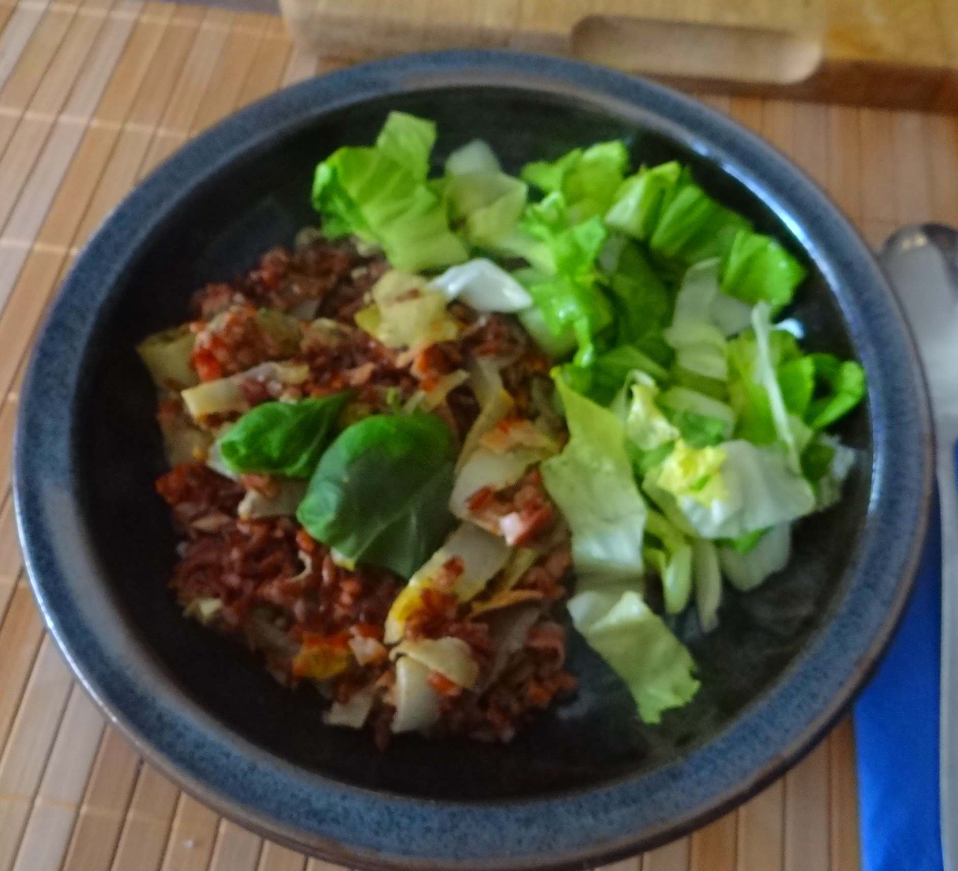 Chicoree-Schinkenpfanne,Roter Reis,Endiviensalat (20)