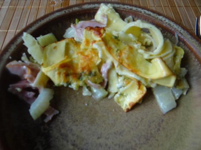 Fenchel-Nudel-Schinken Auflau,Joghurtspeise (14)