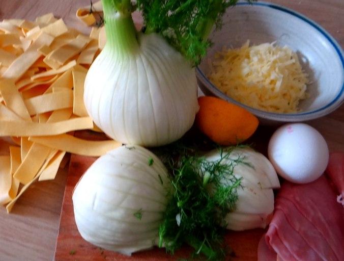 Fenchel-Nudel-Schinken Auflau,Joghurtspeise (4)