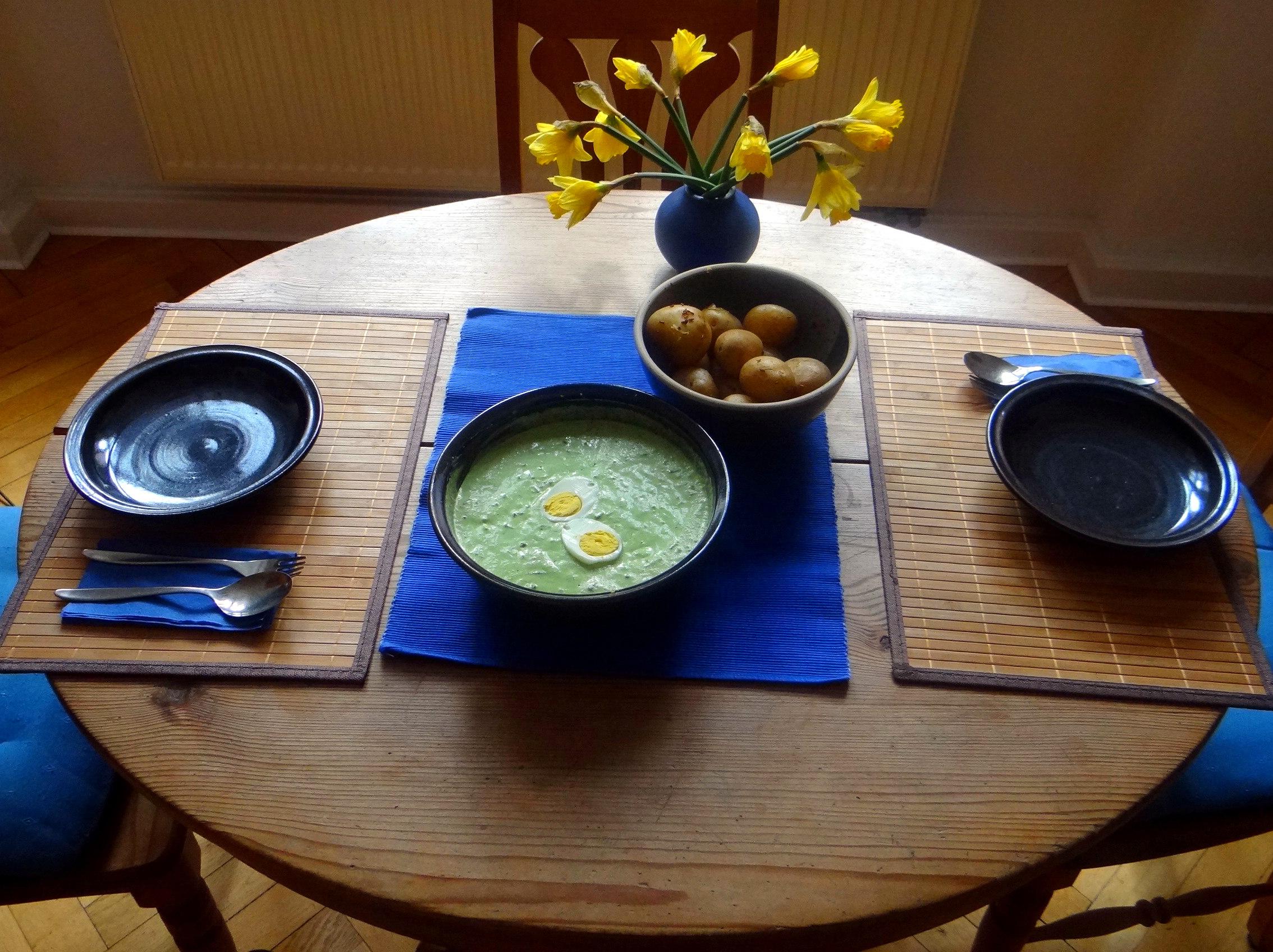 Frankfurter grüne Soße,Pellkartoffeln (2)