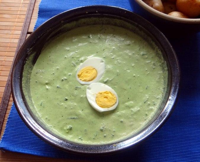 Frankfurter grüne Soße,Pellkartoffeln (4)