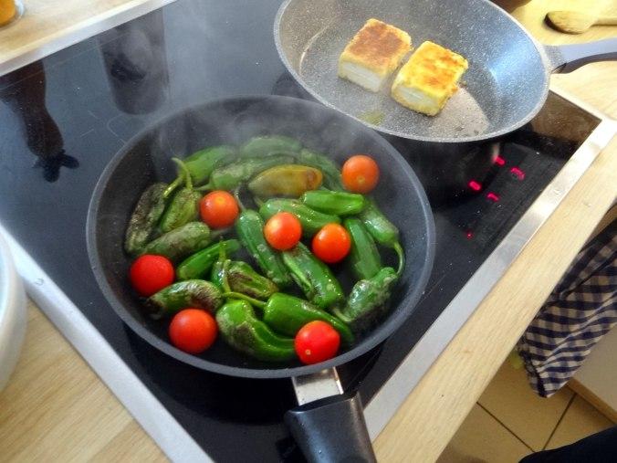 Gebackener Feta,Ofenkartoffel,Pimientos,Gurkensalat,Walleln (10)