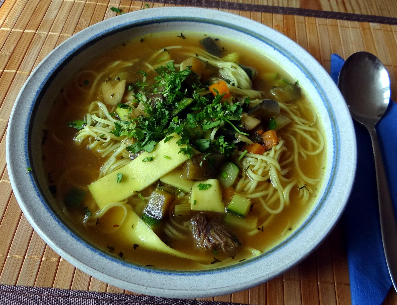 Gemüsesuppe mit Nudeln (13)