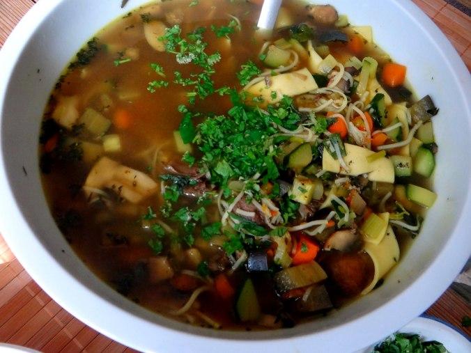Gemüsesuppe mit Nudeln (1a)