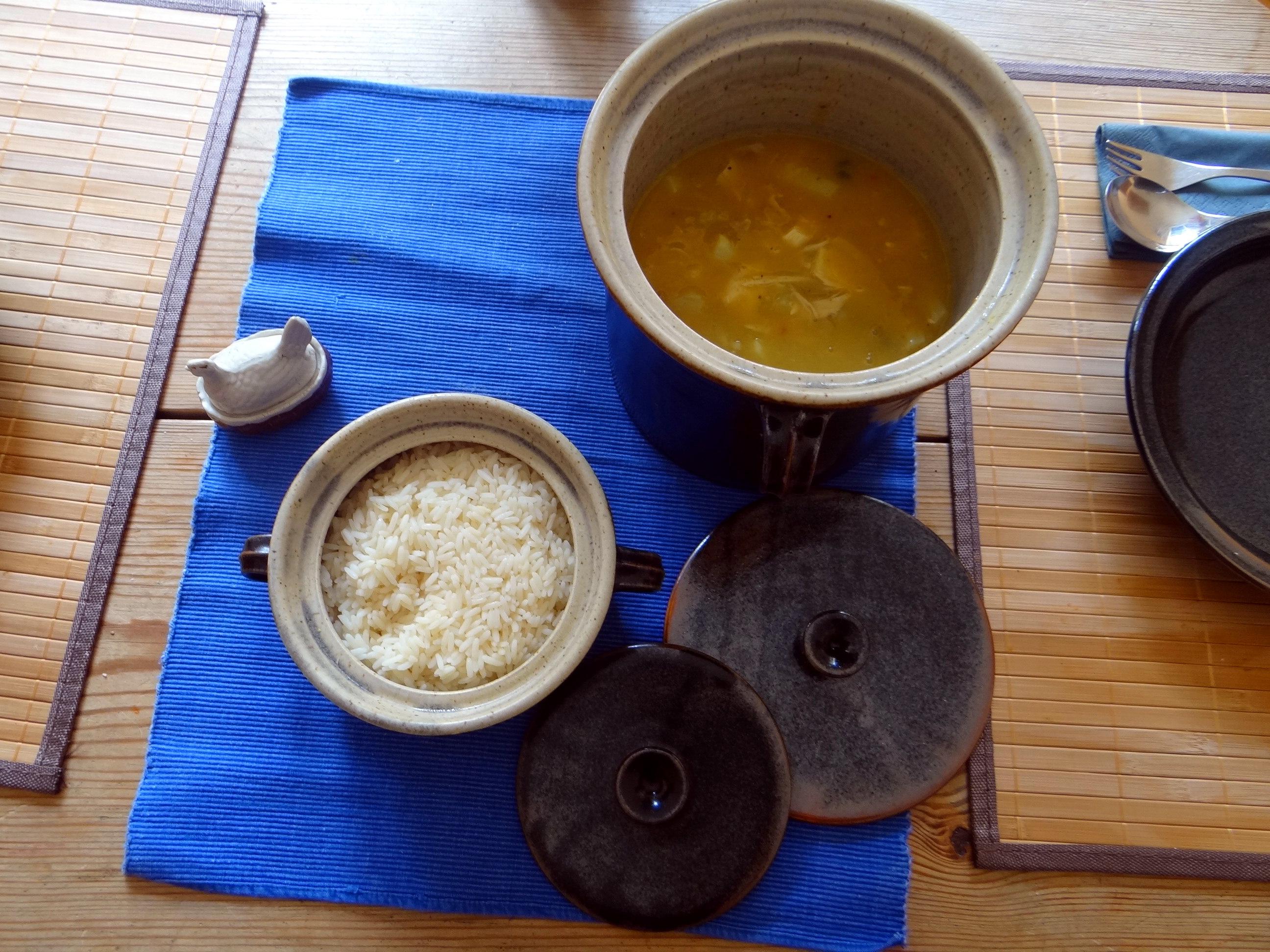 Hühnerfrikassee,Reis (22)