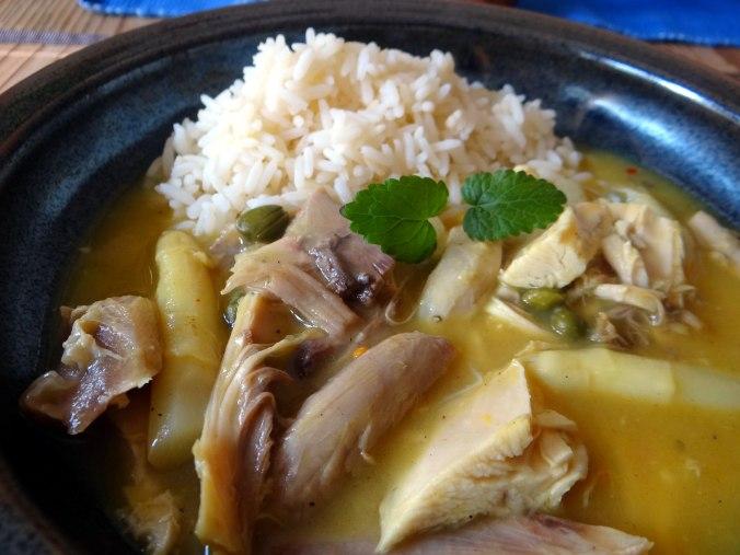 Hühnerfrikassee,Reis (4)