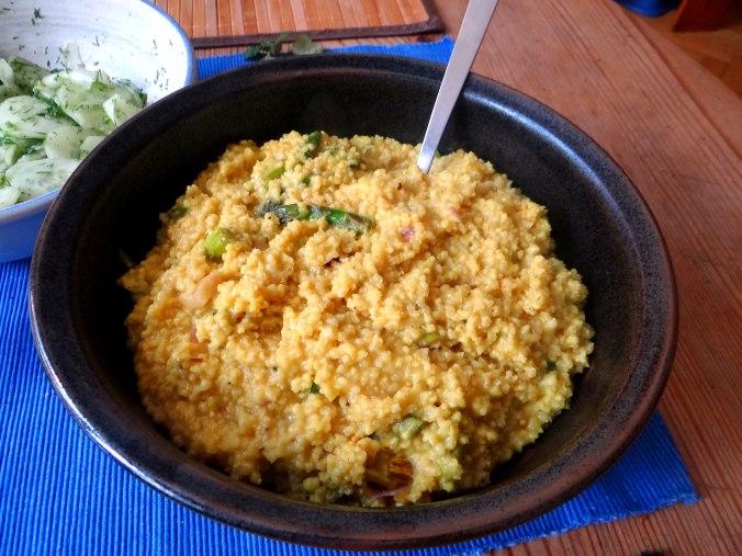 Hirsotto mit grünem Spargel,Gurkensalat (10)