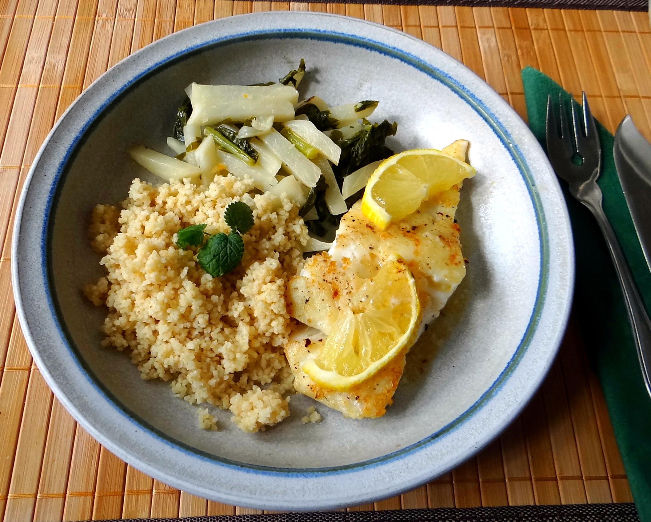 Kabeljau,Mairübchen,Couscous,Mascapone mit Orangensaft,pescetarisch (14)