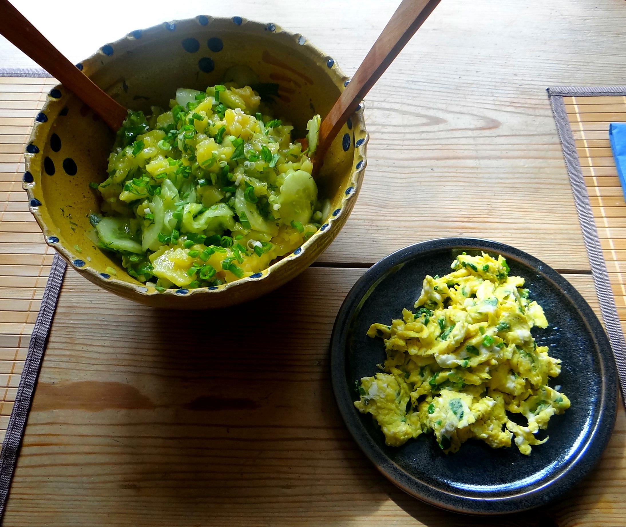 Kartoffelsalat,Rührei (2)
