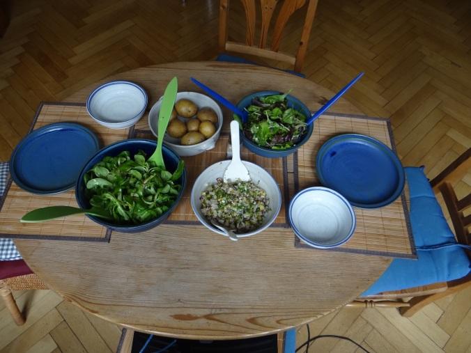 Matjes Tatar,Salate,Pellkartoffeln (3)