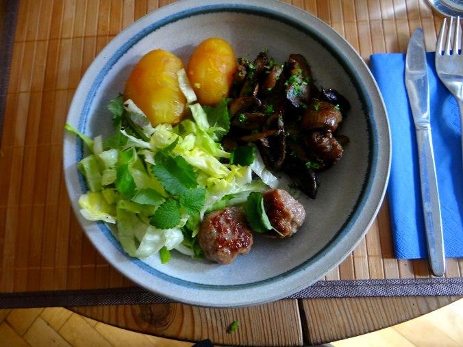 Shitake,Champignon,Hackbällchen,Eisbergsalat (15)