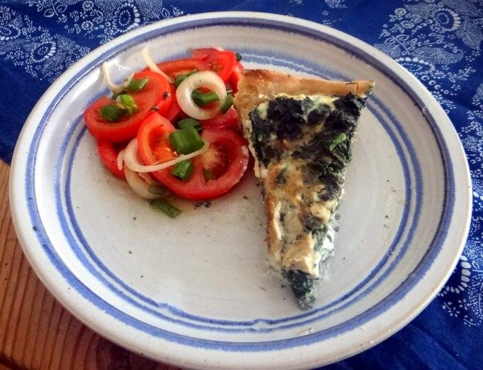 Brennessel Pizza- Quiche-Tarte,Tomatensalat(23)