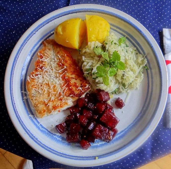 Kabelja,Rote Beete Gemüse,Kohlrabisalat,Pellkartoffel (1)