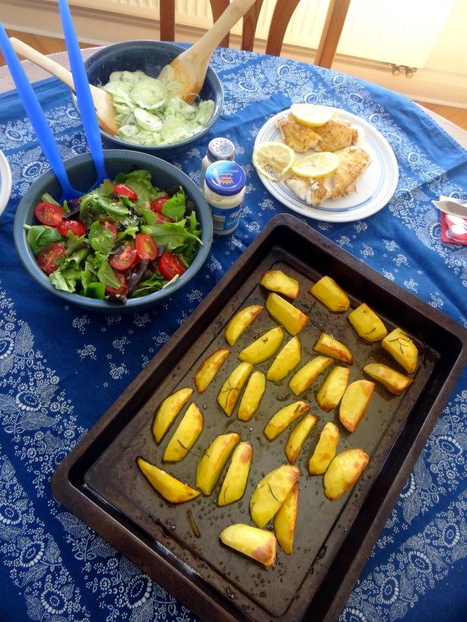 Kabeljau,Salate,Ofenkartoffeln (15)