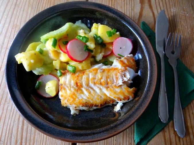 Kabeljau,Schwäbischer Kartoffelsalat (1)