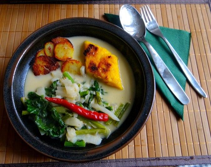 Mairübchen,Polenta,Quarkspeise,vegetarisch (1)