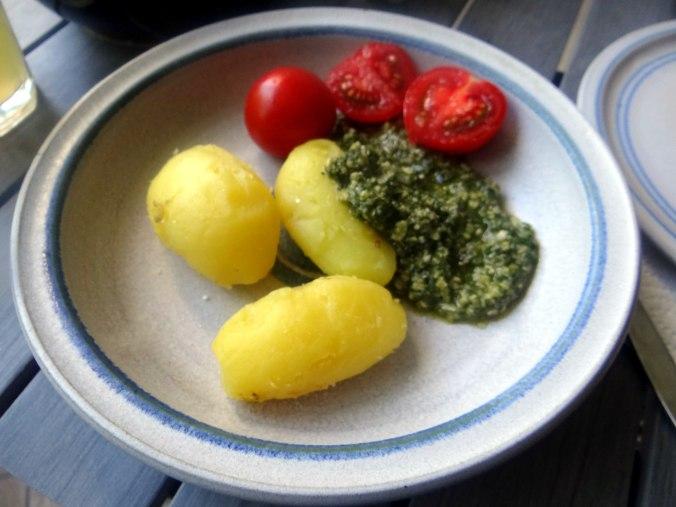 Neue Kartoffeln,Wildkräuter Pesto 10