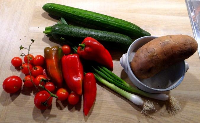Ratatouille grob,Süßkartoffel Gratin,Obstsalat (5)