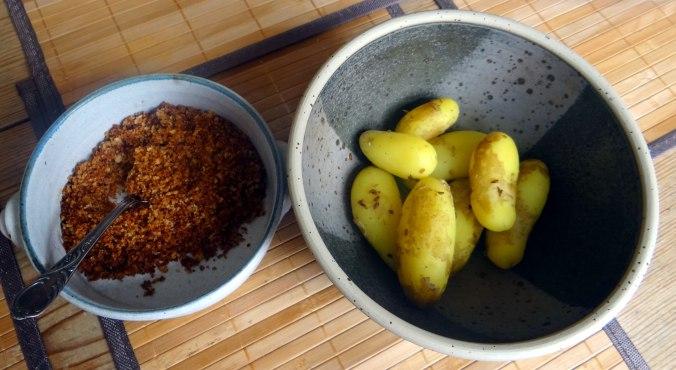 Spargel aus dem Ofen,Pellkartoffeln,Obstsalat (12)