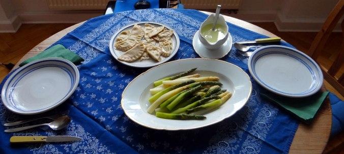Spargel,Ravioli mit Wildkräuterfüllung (3)