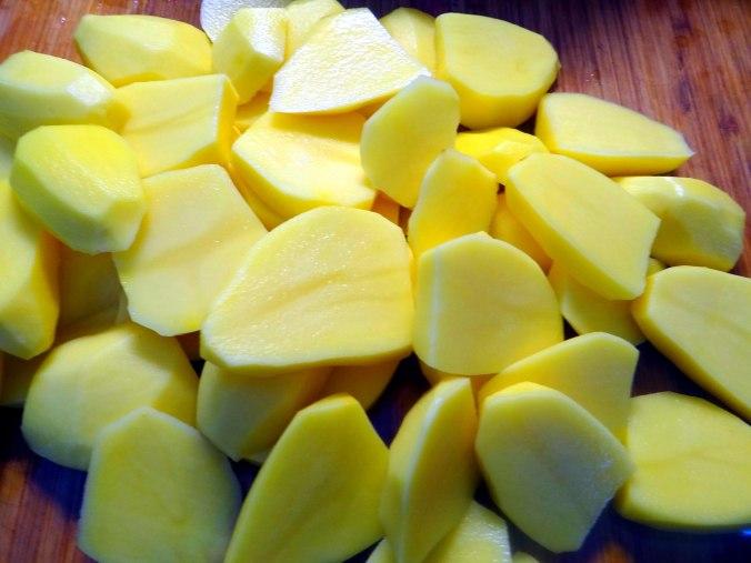 Wildkräuter Salat,Boullion Kartoffeln (17)