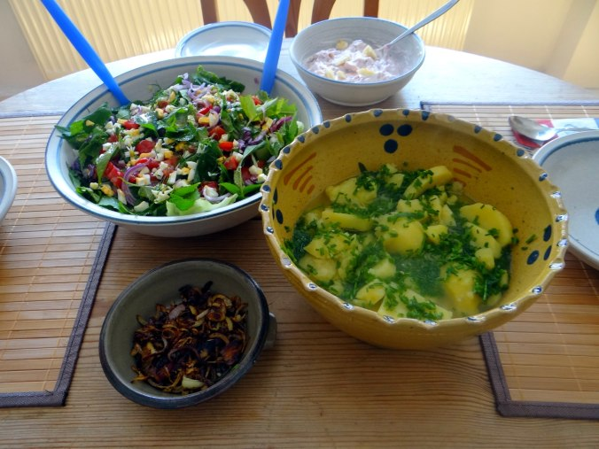 Wildkräuter Salat,Boullion Kartoffeln (22)